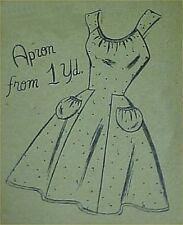 Vintage Bib Apron Full Size Pattern 1 Yd Fabric Flirty! 1950s Era Style