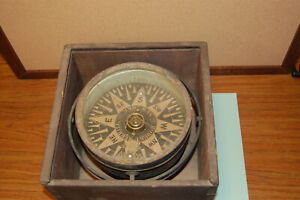 Antique 1850's Ship Dry Compass by Robert Merrill New York