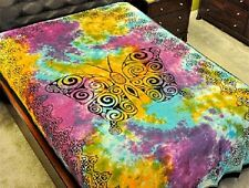 "Butterfly Tie Dye Tapestry 72 x 108"" Wiccan Pagan Altar Supply #TP43TD"