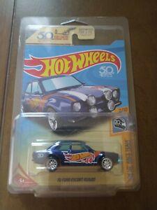 2018 Hot Wheels Super Treasure Hunt BLUE 70 FORD ESCORT RS1600 HW 50th Race Team