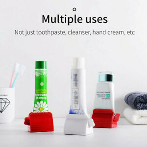 1 Pcs Stand Bathroom Easy Toothpaste Squeezer Rolling Tube Dispenser Seat Holder
