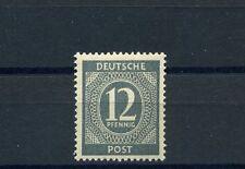12 Pfg. Kontrollrat Ziffer 1946** seltene Farbe Michel 920 c Befund (S9974)