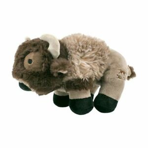 """Tall Tails Plush Squeaker BUFFALO Dog Toy 9"""" Super Soft!"""