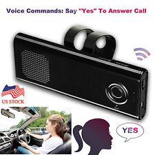 Wireless Bluetooth Handsfree Speaker Phone Car Kit Stereo Speaker Sun Visor Clip