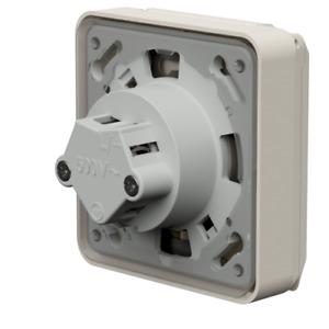 Mennekes Flush-mounted socket Cepex 4112 16A 3P 6H 230V blue IP44 white RAL 1013