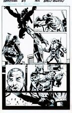 BATTLE SCARS 3 pg12 DEADPOOL VS NICK FURY JR (NEW NICK FURY) & GETS HEART KNIFED