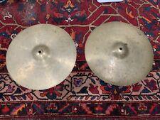 "1960s Zildjian Avedis 15"" vintage hi-hat cymbals (pair) 842g/874g"