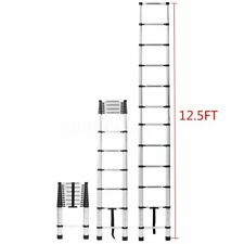 12.5FT Step Ladder Extension Telescoping Lightweight Portable Telescopic US