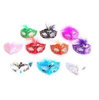 Set of 12 Mini Masquerade Mardi Gras Masks Party Decorations Collectibles - New