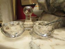 ancienne saliere poivriere en cristal taillé