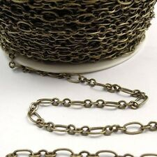 4M Antike Bronze Ton Messing Halsketten Armband Schmuck Ketten 8*5mm 31872