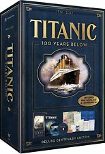 TITANIC 100 YEARS BELOW DELUXE CENTENARY BOX NEW DVD + CD + BOOK + DOCUMENTS R4