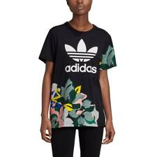 {GC6833} adidas HER Studio London Floral Trefoil Tee - Black *NEW*