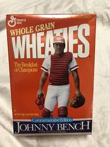 Wheaties Box Commemorative Johnny Bench Cincinnati Reds Full Baseball