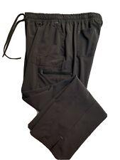 Scrubstar Women's dark gray drawstring elastic waist scrub pants size L