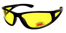 Focus Anti-Glare Night Driving Glasses Polarized Light Yellow Lens Glossy Black