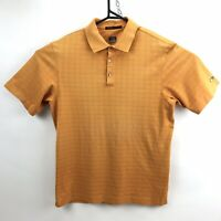 Tiger Woods Golf Polo Shirt Mens Size M Medium Orange Mustard Nike Fit Dry