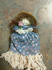 Vintage Old Mop Rag Doll Adorable Cute Decoration Great condition Handmade