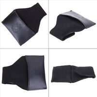 Faux PU Leather Chalk Holder Pouch with Clip Pool Billiards Snooker Cue Black