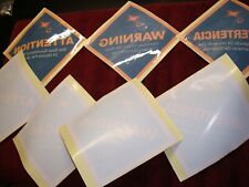Security Camera Window Warning Labels - Set of Seven (7)
