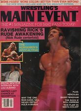 Wrestling's Main Event April 1988 Rick Rude, Lex Luger, Lou Albano VG 011916DBE