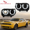 LED Projector Headlight HID Xenon Type For 15-2018 Dodge Challenger Plug & Play