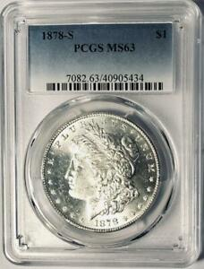 1878-S Morgan Silver Dollar - PCGS  MS-63 - Certified Mint State 63