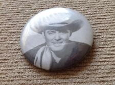 * ALAN  ROCKY LANE * WESTERN COWBOY  COLLECTOR BUTTON PHOTO PIN   RARE