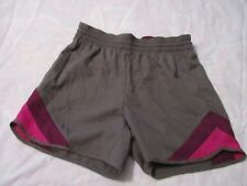 NIKE WOMEN'S ATHL. RUNNING SHORTS X-SMALL BROWN/ PURPLE DRI-FIT  NEW WITH TAGS
