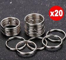 20 Steel Keyrings Split Key Rings 25mm Nickel Hoop Ring Nickel Plated Steel Loop