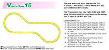 Kato 20876 N Scale Unitrack, V16 Double Track Outer Loop Set, V-16 Kato 20-876