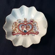 "1981 charles and lady diana to commemorate their marriage old foley dish ""J 4 """