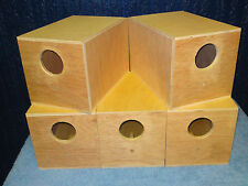 5 x  Budgie Nest Boxes End Entry Aviary Breeding Bird Nesting Box Inc Concaves
