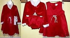 Christmas Rich Red (3 pc) Jacket, Dress, Panty (Sz 18m)