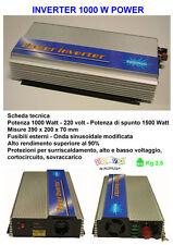 INVERTER PER AUTO CAMPER CAMPEGGIO BARCA 1000/1500 WATT 12/220 VOLT