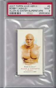 2007 Topps Bobby Lashley WWE Card Gem Mint PSA 10 Allen & Ginter Champion