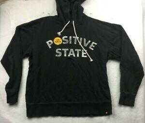 Life Is Good Postive State Black Long Sleeve Hoodie Large