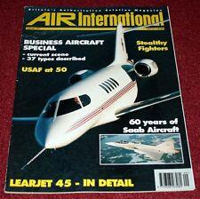 Air International 1997 September USAF,Learjet,Saab