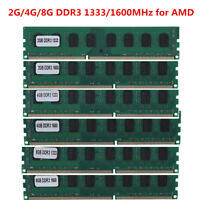 Memory RAM 2GB 4GB 8GB DDR3 PC3-10600/12800 1333/1600MHZ DIMM for AMD 240Pin