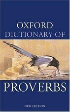 Oxford Dictionary of Proverbs (Oxford Paperback Reference)-ExLibrary