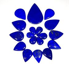 250CT WHOLESALE LOT NATURAL LAPIS LAZULI PENDANT SIZE PEAR CABOCHON GEMSTONE AAA