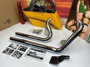 🔥Harley Softail 86-12 Chrome Rush Chrome Short Style Exhaust #5020-5120🔥