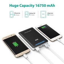 RAVPower 16750mAH Portátil Cargador externo batería Pack 4.5A iSmart Technology