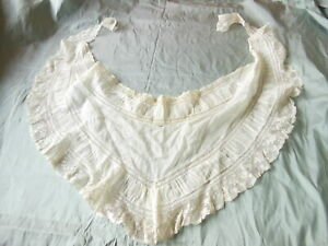 Antique Lace and Gauze Collar/Flounce
