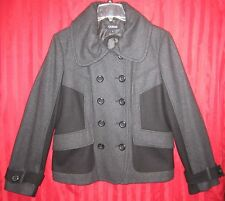 Women's Guess Double Breasted Cold Weather Peacoat Charcoal Size XL NWOT