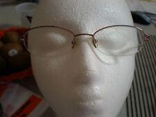 MARCHON M 150 HALF RIM LADY Eye Glass Frames PINK GOLD TONE FLEXIBLE HINGE OPTIC