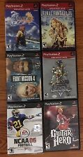 Lot Of 6 Ps2 Games(Kingdom Hearts 2, Front Mission 4, Ff X, Ff Xii, And More)