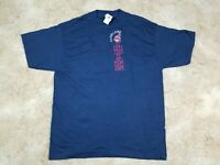 Vtg Cleveland Indians MLB 90s Logo 7 Embroidered Chief Wahoo T-Shirt XL USA NEW