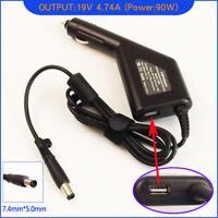 Laptop DC Adapter Car Charger +USB for HP Pavilion DV3650EZ DV3680ES