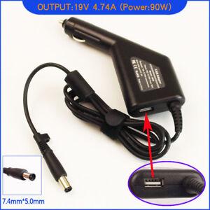 Laptop DC Adapter Car Charger +USB for HP Pavilion DV3522TX DV3530TX